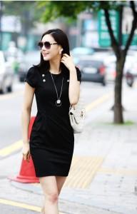 Đầm công sở Hàn Quốc