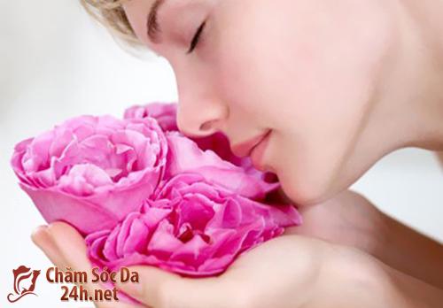 Chanh và nuớc hoa hồng