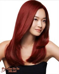 toc cam do 240x300 Nên nhuộm tóc màu gì cho thích hợp?