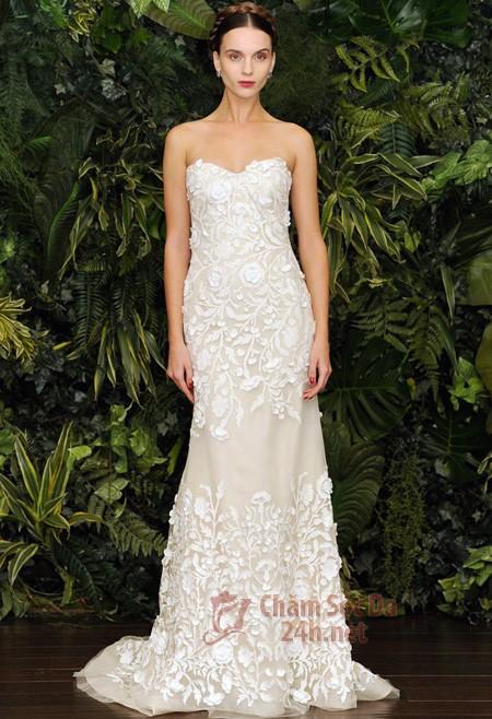 Vẻ đẹp rạng ngời của áo cưới ren 2014