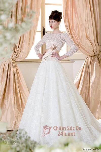 váy cưới ren 2014-8