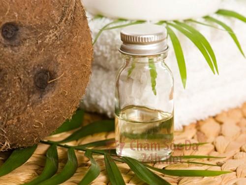 Chăm sóc da khô với dầu dừa