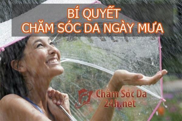Cách chăm sóc da mùa mưa