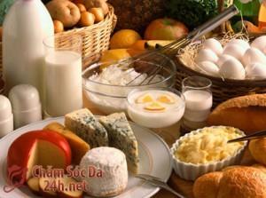 Chế độ dinh dưỡng giúp trị mụn bọc hiệu quả