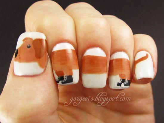 Mẫu Nail dành cho các bạn gái yêu động vật