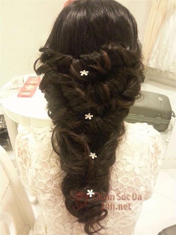 tóc tết cô dâu đẹp năm 2013