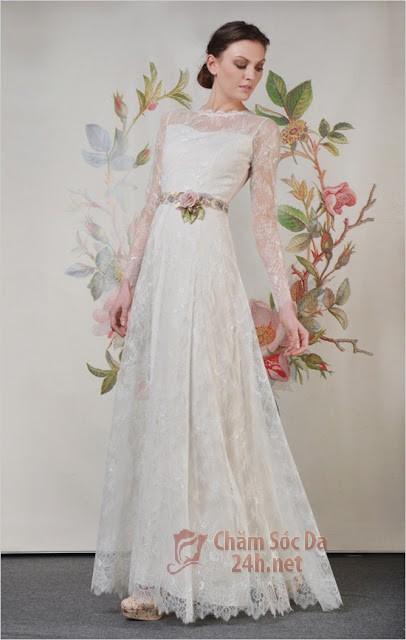 váy cưới ren 2014-13