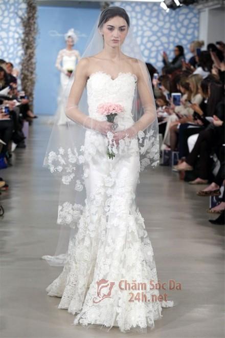 váy cưới ren 2014-2